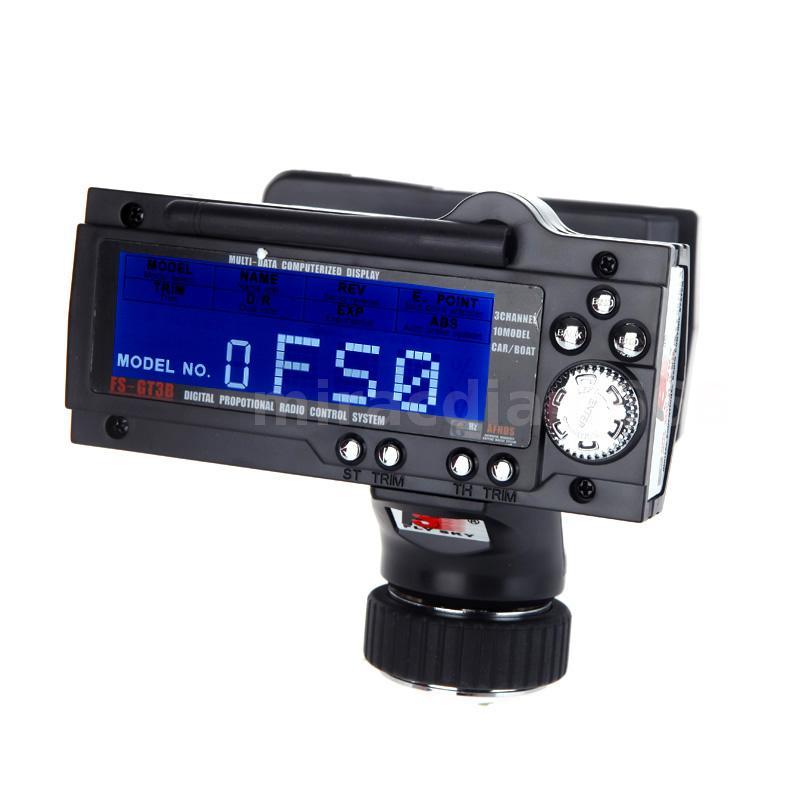 FS-GT3B 2.4G 3CH Remote Control LCD Transmitter & Receiver