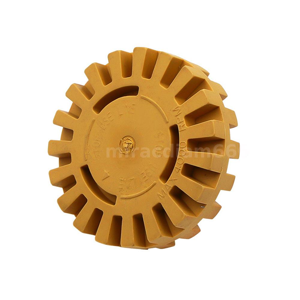 4 inch Decal Removal Eraser Wheel w// Power Drill Arbor Adapter Rubber Pinstripe