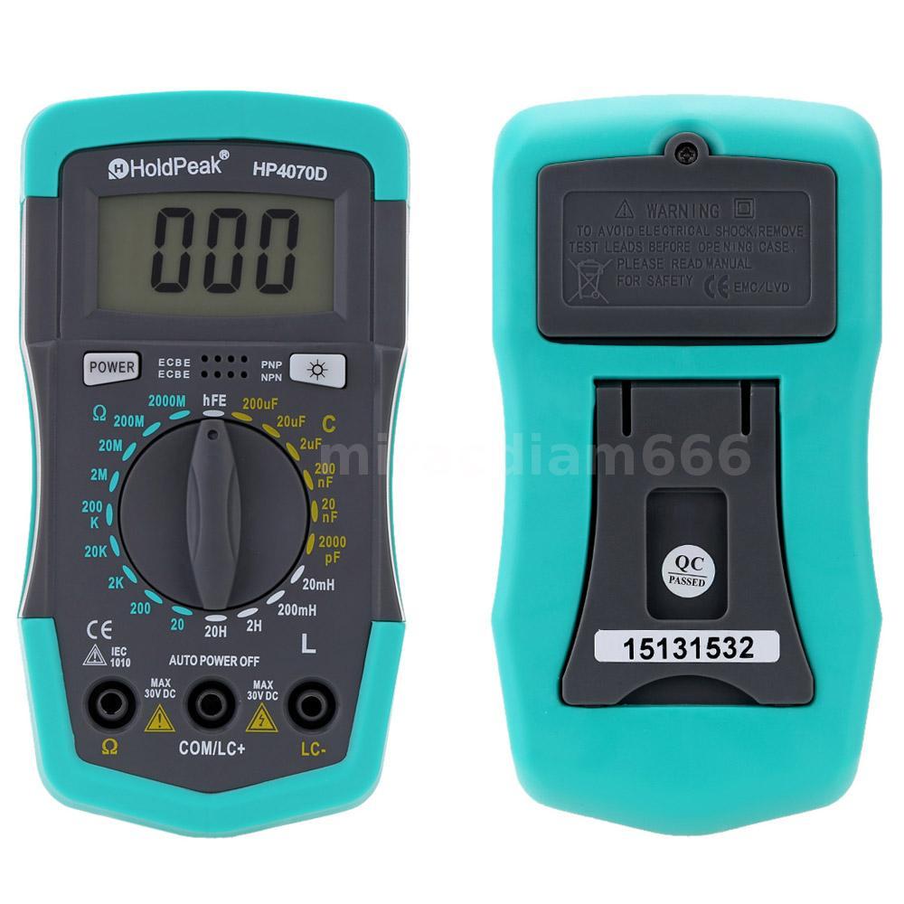 low battery indication Capacitance Meter HP4070D Resistance Meter Digital Multimeter low consumption LCD Display laboratory for fieldwork factory using