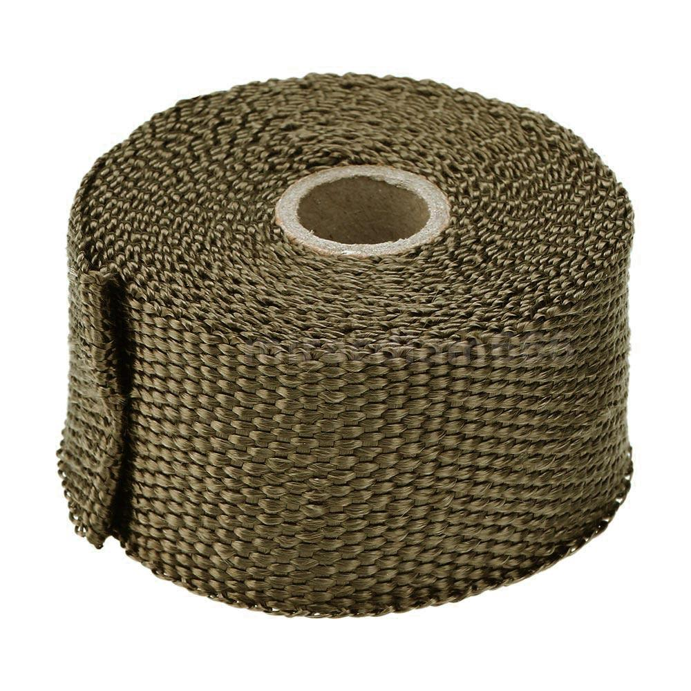 Exhaust Heat Wrap >> 5m Car Motorcycle Exhaust Header Pipe Insulation Heat Wrap Tape 10 Ties L1V2   eBay