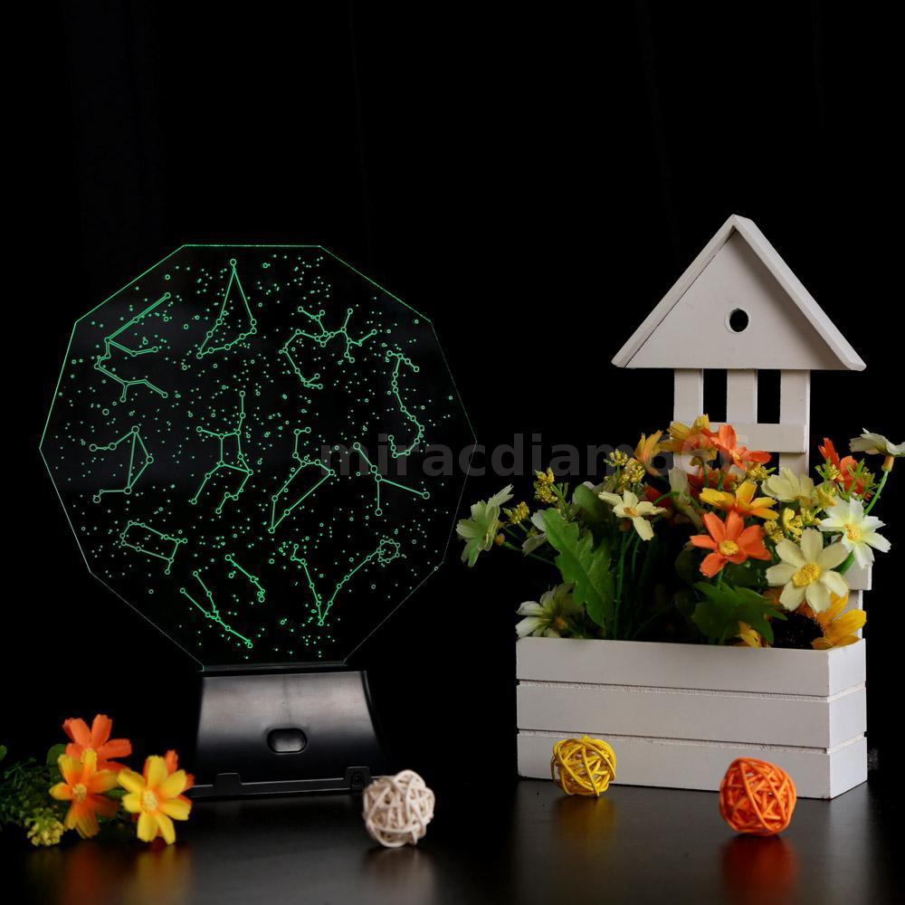3D LED Lamp Light USB Constellation Sky Colorful Night Light Home Garden G2H4