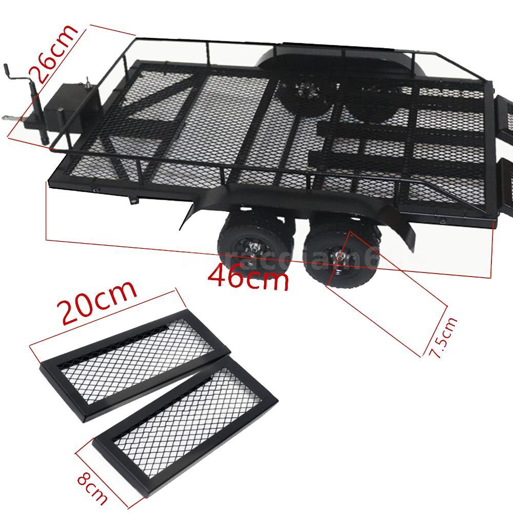 Trailer CarTrailer Cargo Carrier Metal Kit for 1//10 SCX10 D90 HPI RC Car M2F3