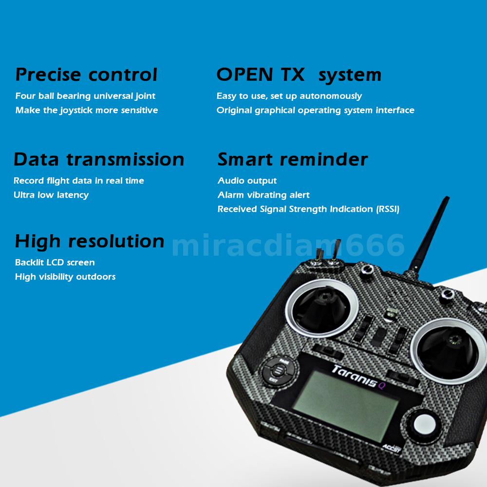 Details about Taranis Q X7S 16CH Transmitter for RC Airplane Helicopter FPV  Racing Drone D0L9