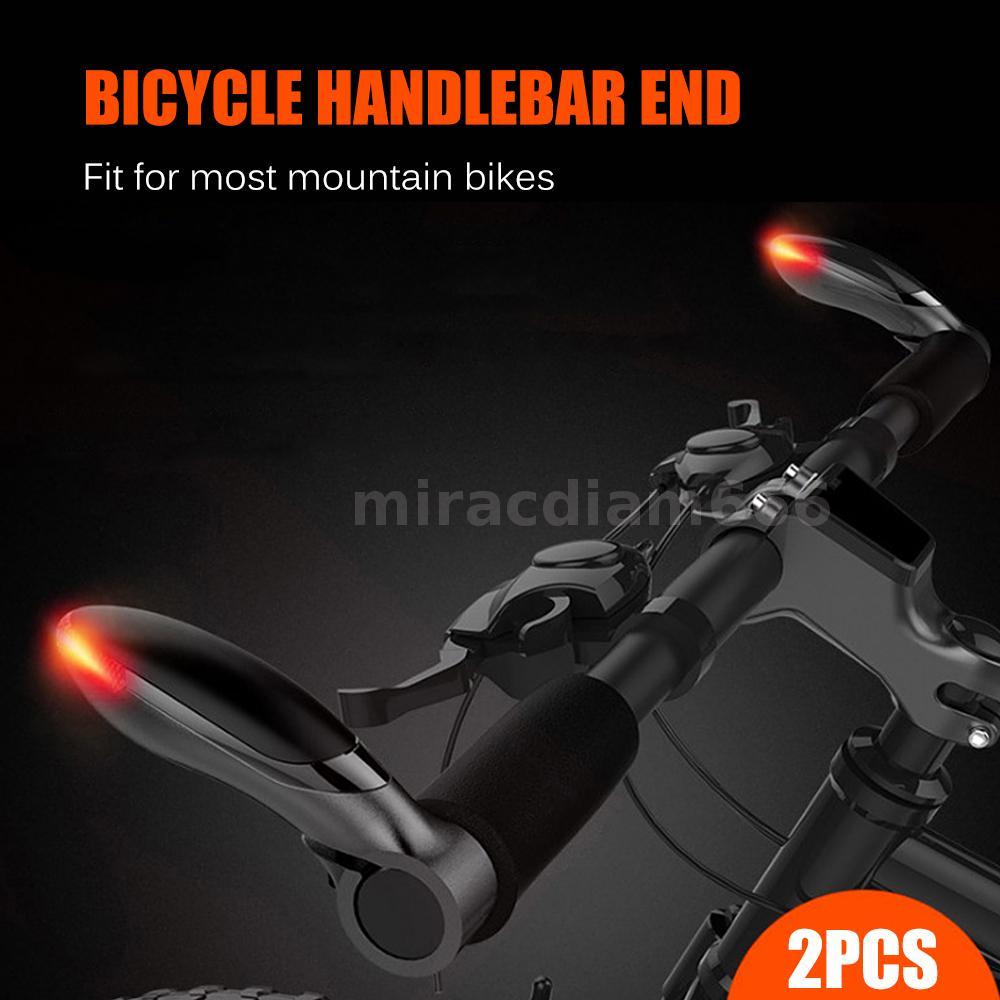 Waterproof Bicycle Handlebar End LED Light MTB Bike Cycling Bar End Warning Lamp