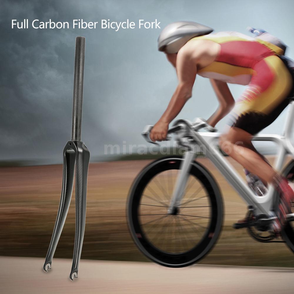 Ultralight Full Carbon Fiber Road Bicycle Fork 700C Cycling Fixed Gear Bike U1V1