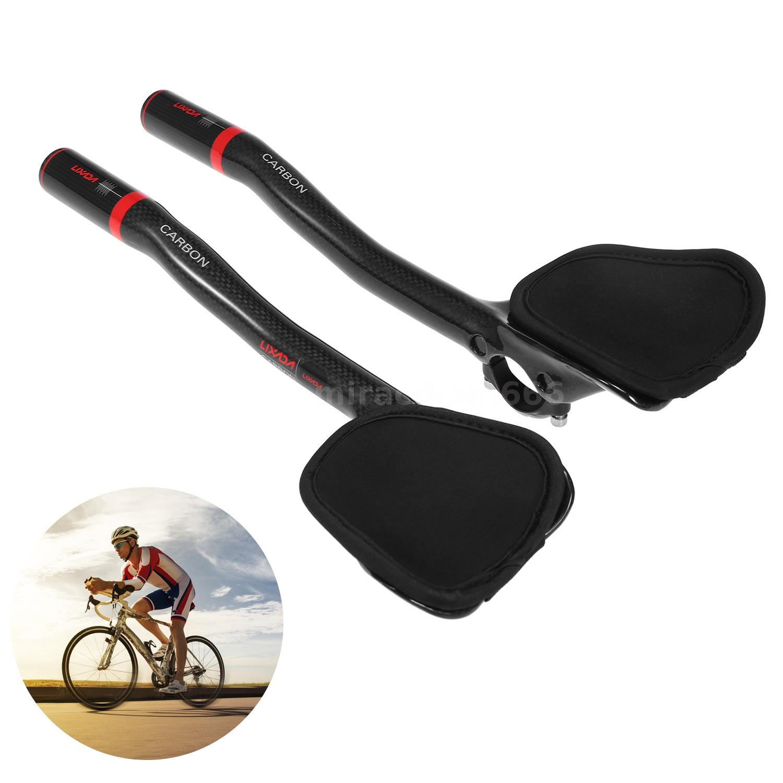 TOSEEK Carbon Bicycle Bike TT Triathlon Aero Bar rest Handlebar Aerobar 31.8mm