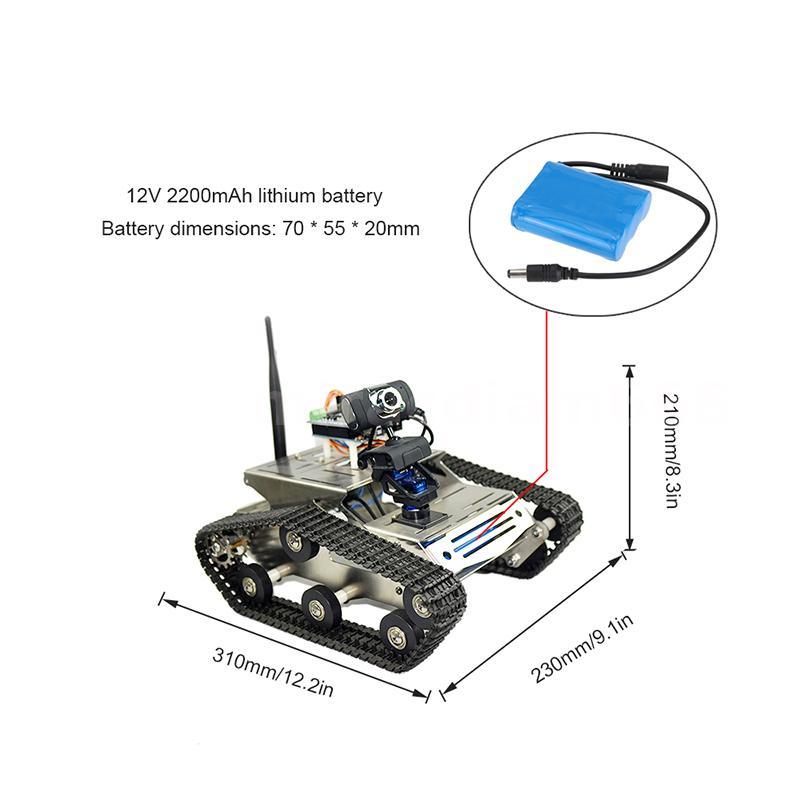 TH Wifi DIY Crawler RC Robot Tank 1.3MP Camera Suit PC