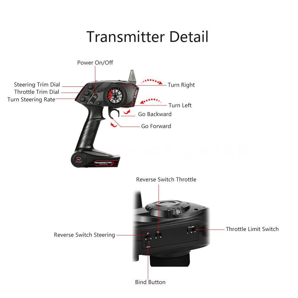 Original GoolRC TG3 2.4GHz 3CH Transmitter With Receiver