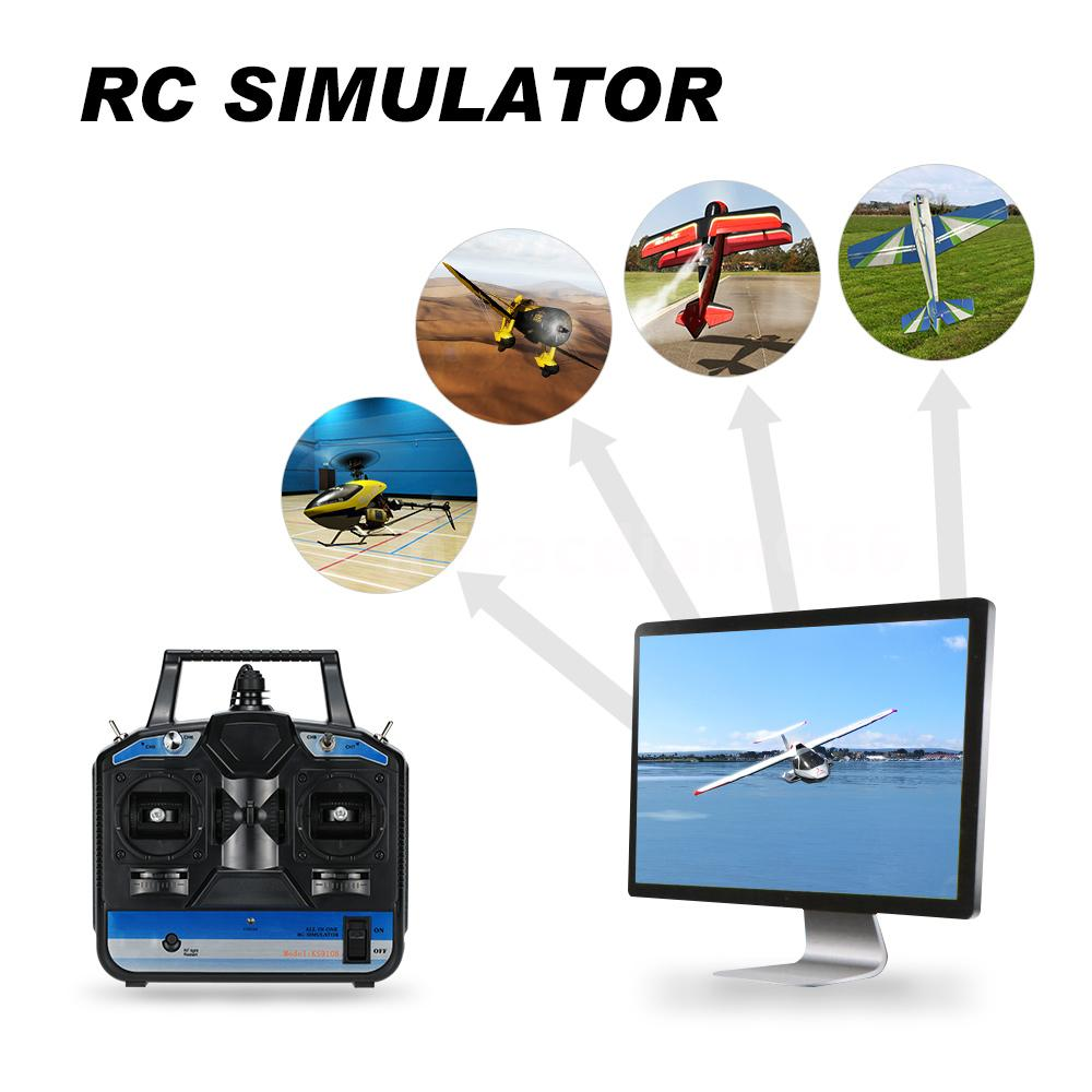 8 Ch RC Helicopter Airplane Flight Simulator Transmitter ...