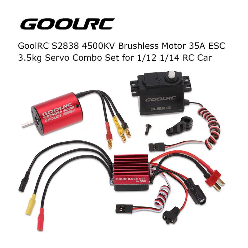 S2838 4500kv Brushless Motor 35a Esc Servo Combo For